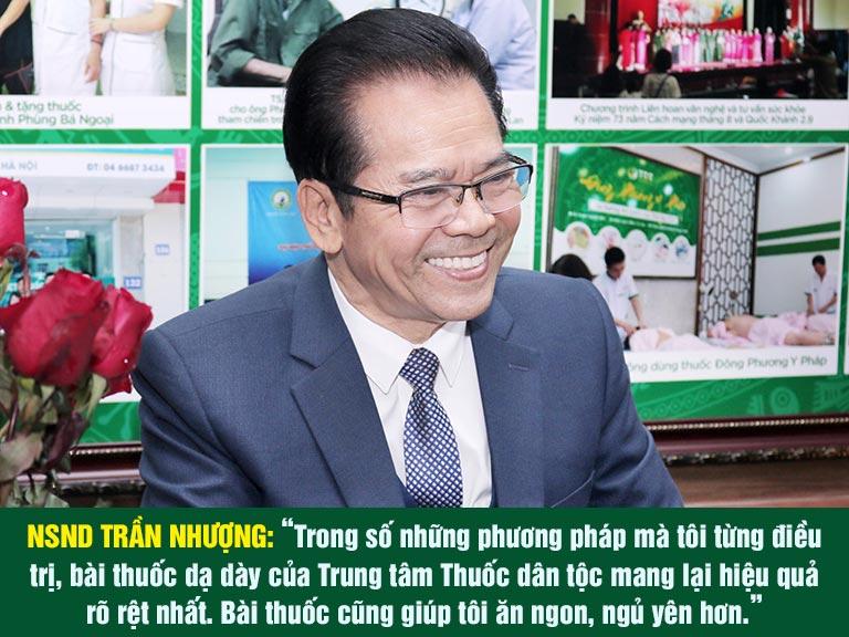 NSND Trần Nhượng chia sẻ về bài thuốc điều trị viêm dạ dày Sơ can Bình vị tán
