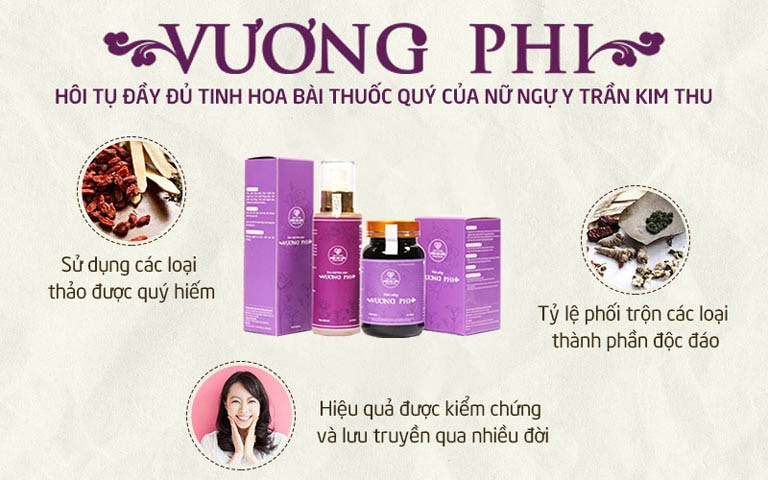 Bộ sản phẩm Nám da, Tàn nhang Vương Phi