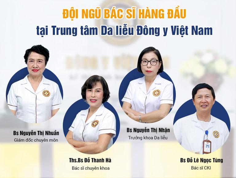 Đội ngũ bác sĩ giàu kinh nghiệm tại Trung tâm Da liễu Đông y Việt Nam