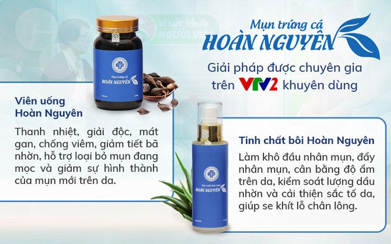 Công dụng của Bộ sản phẩm Trị Mụn Trứng cá Hoàn Nguyên