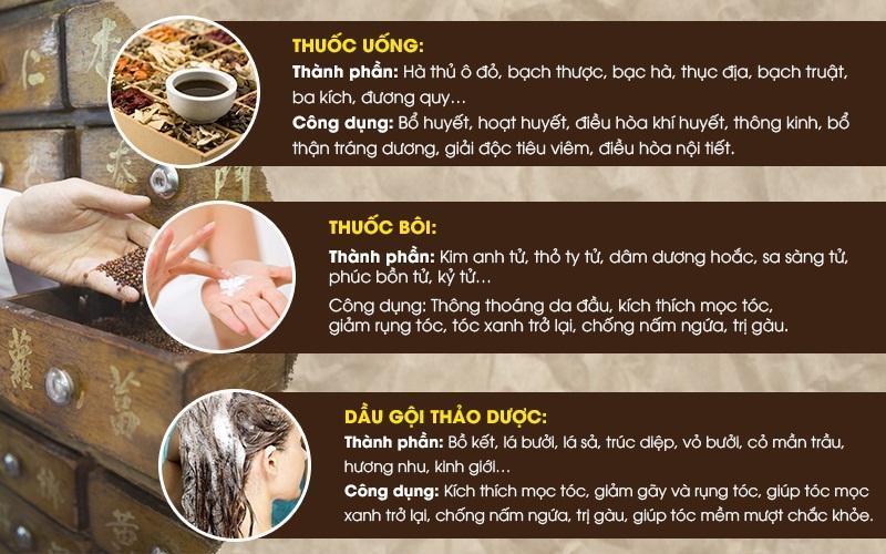 Thuốc chữa rụng tóc hiệu quả tại Phòng chẩn trị YHCT Đông y Việt Nam