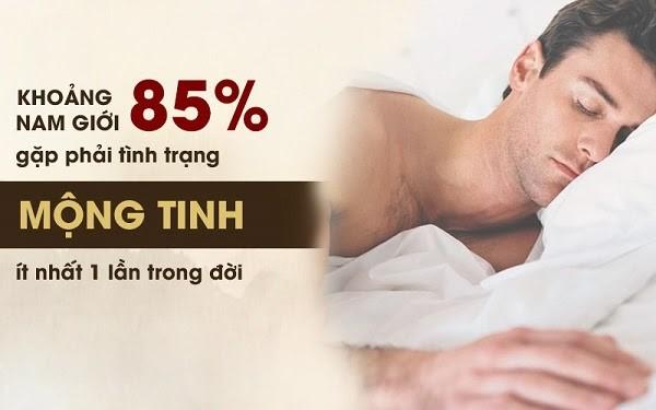85% nam giới đều gặp phải tình trạng di tinh,mộng tinh ít nhất 1 lần trong đời