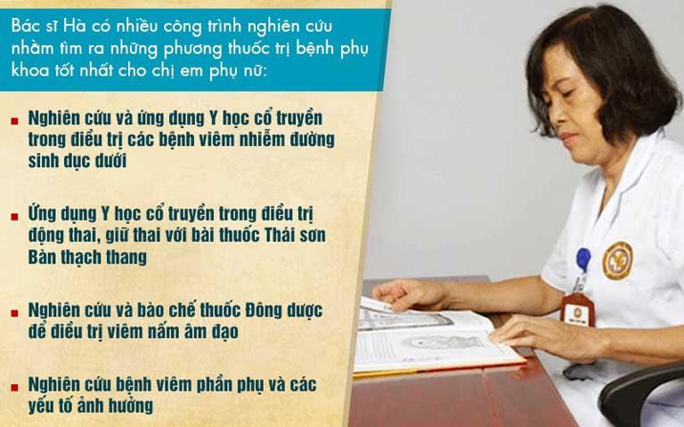 Thạc sĩ, bác sĩ Đỗ Thanh Hà với nhiều công trình nghiên cứu mang tính ứng dụng cao
