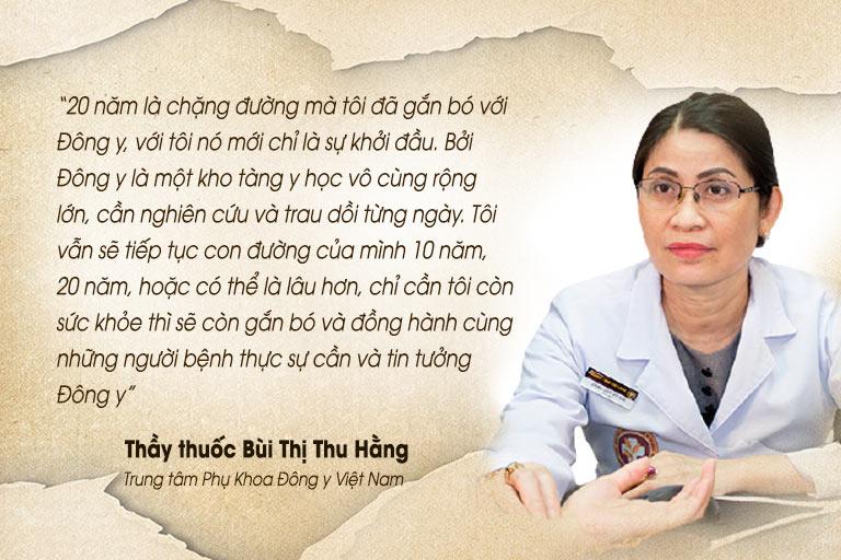 Lương y Bùi Thị Thu Hằng tâm niệm với sứ mệnh điều trị bệnh bằng YHCT