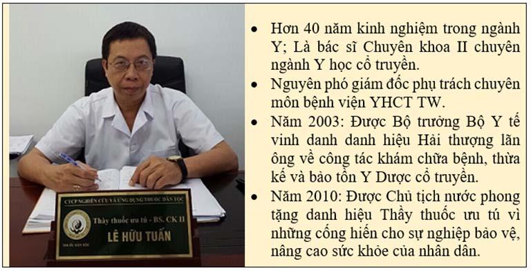 Chân dung bác sĩ Lê Hữu Tuấn điều trị bệnh trĩ