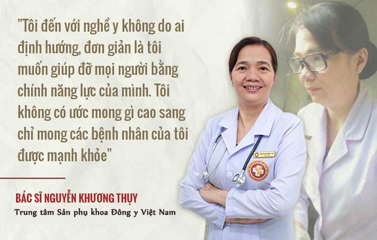 Bác sĩ Khương Thụy đến với nghề y hoàn toàn không do ai định hướng