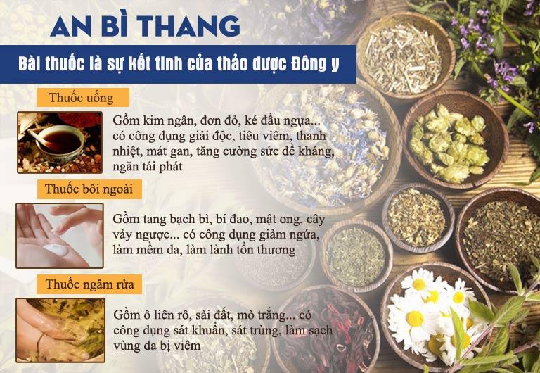 Bài thuốc An Bì Thang với sự kết hợp của nhiều vị thuốc quý trong 3 chế phẩm