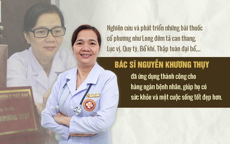 Dựa trên sự kế thừa và phát triển các bài thuốc cổ phương, bác sĩ Thụy đã ứng dụng thành công bài thuốc điều trị bệnh kinh nguyệt cho hàng ngàn phụ nữ