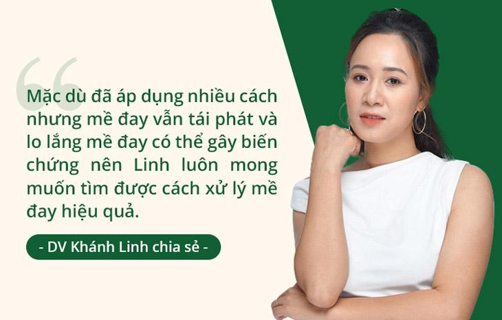 Mặc dù chị Linh đã áp dụng nhiều cách nhưng mề đay vẫn cứ dai dẳng