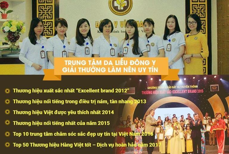 Trung tâm Da liễu Đông y Việt Nam là trung tâm rất nổi tiếng, uy tín từ lâu đời