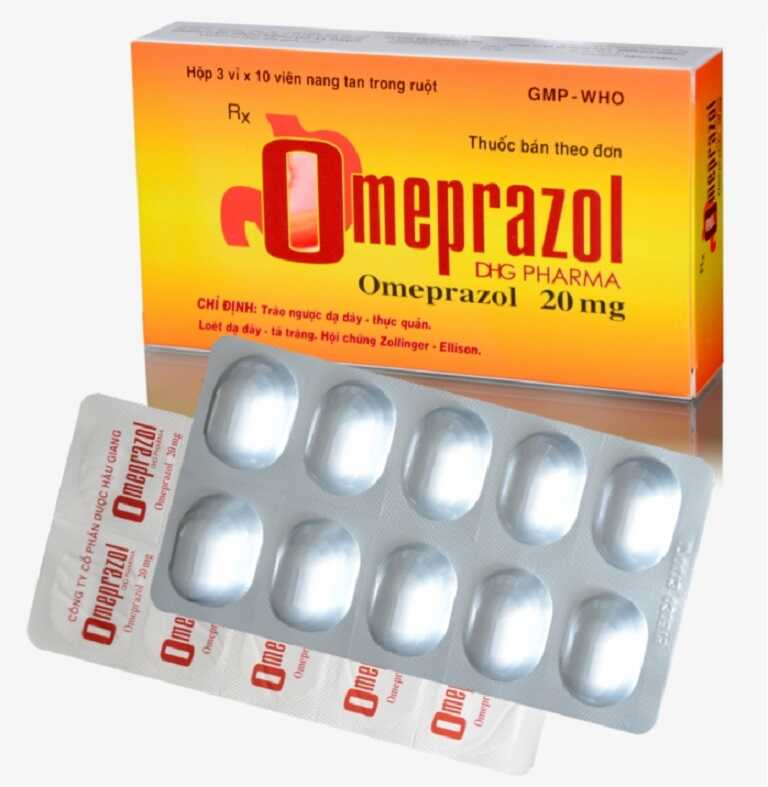 Thuốc Omeprazol có khả năng ức chế quá trình bài tiết axit dạ dày