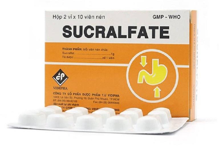 Thuốc Sucralfate có tác dụng giảm lượng axit dịch vị giúp mẹ bầu ngăn ngừa cơn đau dạ dày