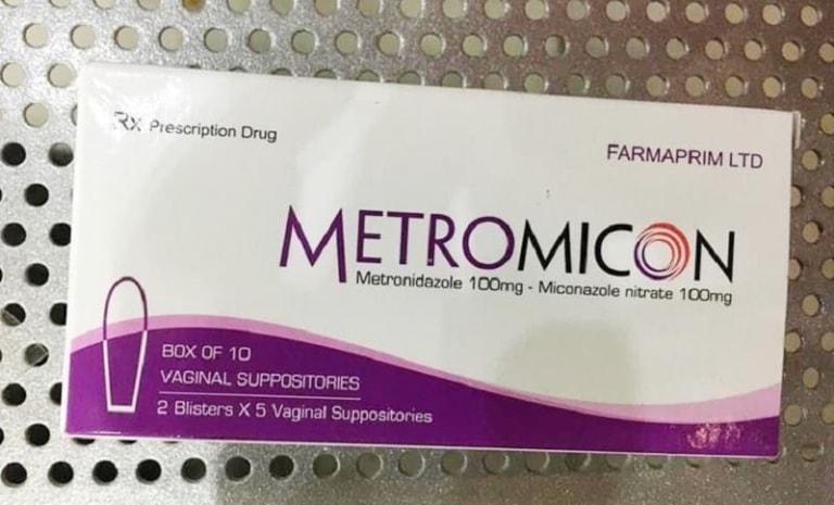 Thuốc đặt phụ khoa Metromicon là loại phổ biến