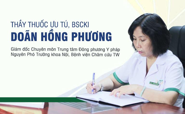 Bác sĩ Doãn Hồng Phương hiện đang là Giám đốc Chuyên môn Trung tâm Đông phương Y pháp được biết đến là vị bác sĩ thuộc thế hệ vàng của YHCT Việt Nam