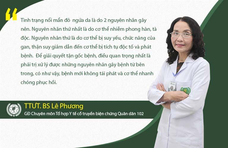 Bác sĩ Lê Phương chia sẻ về bệnh mề đay
