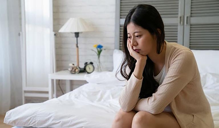 Tình trạng mất ngủ bốc hỏa khiến chị Đào Linh không còn kiểm soát được cơ thể của mình